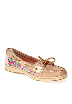 Sperry Top-Sider Angelfish Boat Shoe - Linen/Berry Floral Sequin