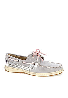 Bluefish Boat Shoe - Grey Houndstooth Sequins