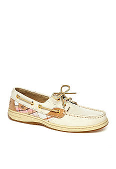 Sperry Top-Sider Bluefish Boat Shoe - Oat/Sand Plaid