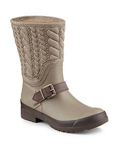 Sperry Walker Gray Rope Rain Boot