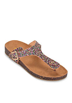 WANTED Dino Glitter Footbed Sandal