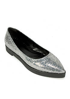 Summit White Mountain Elise Glitter Italian Flat Shoe
