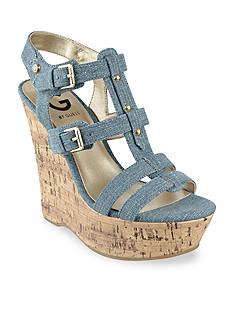 G by GUESS Hippo3 Cork Wedge Sandal