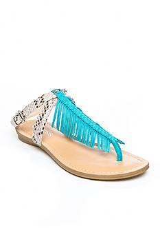 GUESS Guavva3 Fringe Flat Sandal
