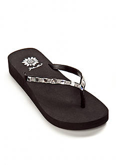 Yellow Box Jewel Flip Flop