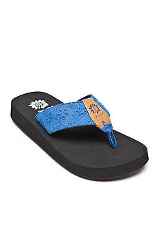 Yellow Box Root Eyelet Flip-Flop