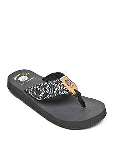 Yellow Box Baltimore Woven Digital Print Flip-Flop