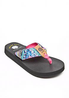 Yellow Box Rescada Sequin Flip-Flop Sandals