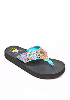 Yellow Box Rescada Sequin Flip-Flop Sandals