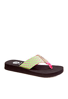 Yellow Box Volcano Flip Flop