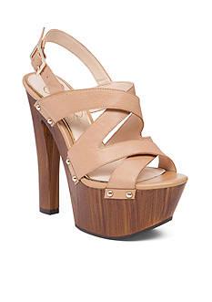 Jessica Simpson Damelo Wood Platform Sandal