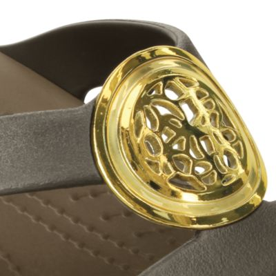 Flat Sandals for Women: Espresso/  Walnut Crocs Sanrah Circle Sandal