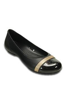 Crocs Cap Toe Shimmer Flat