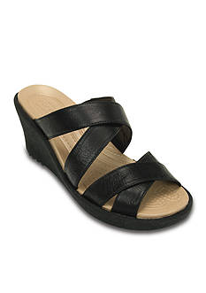 Crocs Aleigh Crisscross Wedge Sandal