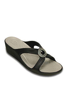 Crocs Sanrah Beaded Wedge Sandal