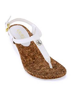 Lauren Ralph Lauren Reeta Thong Wedge Sandal