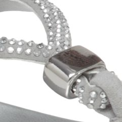 Flat Sandals for Women: Silver Vince Camuto Elliot Sandal