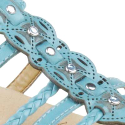 Flat Sandals for Women: Light Teal Earth Bluff Sandal