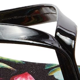 Flat Sandals for Women: Black Floral Dolce Vita Derika Flip Flop