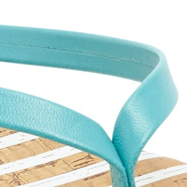 Flat Sandals for Women: Aqua/White Dolce Vita Derika Flip Flop