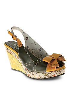 Spring Step Advance Peeptoe Slingback Wedge