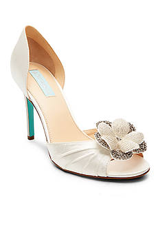 Betsey Johnson Emma Embellished Flower Pumps