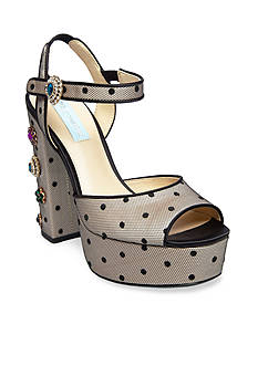 Betsey Johnson Wren Polka Dot Platform Sandals