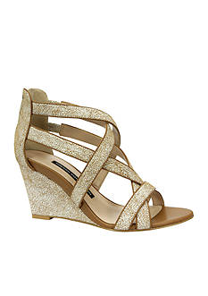 French Connection Ulie Criss Cross Wedge Sandal