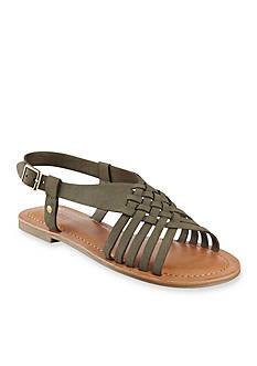 indigo rd. Brea Basket Weave Flat Sandal