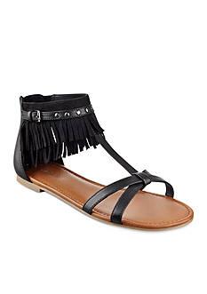 indigo rd. Cross Flat Fringe Sandal