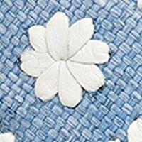 Flat Sandals for Women: Blue Raffia Jack Rogers Lauren Raffia Sandal