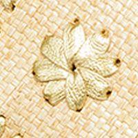 Womens Slides: Gold Raffia Jack Rogers Lauren Raffia Sandal