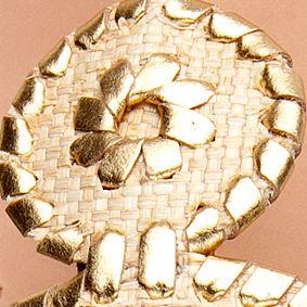 Flat Sandals for Women: Gold/Raffia Jack Rogers Raffia Navajo Sandal