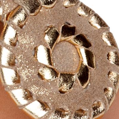 Flat Sandals for Women: Gold Jack Rogers Stardust Navajo Sandal