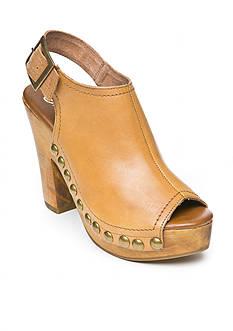 Naughty Monkey Plush Patra Faux Wood Heel Sandals