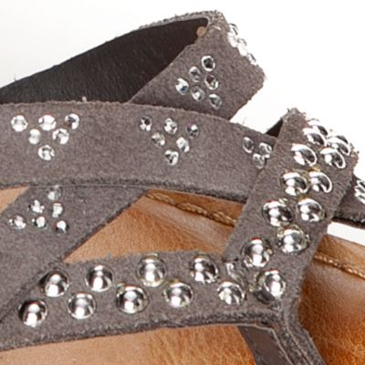 Flat Sandals for Women: Grey Naughty Monkey Soco Sandal