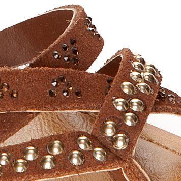 Flat Sandals for Women: Tan Naughty Monkey Soco Sandal