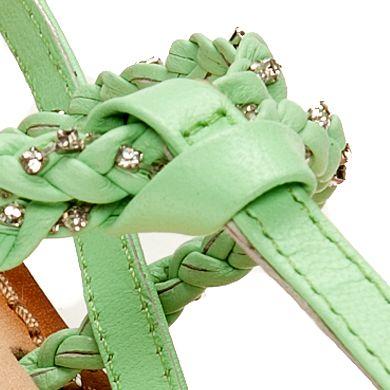 Flat Sandals for Women: Mint Naughty Monkey Fresh Fry Sandal