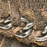 Naughty Monkey: Charcoal Naughty Monkey Olivia Wilde Fringe Chain Sandals