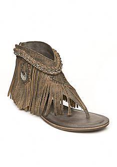 Naughty Monkey Olivia Wilde Fringe Chain Sandals