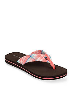 Tommy Hilfiger Conica Plaid Flip Flop