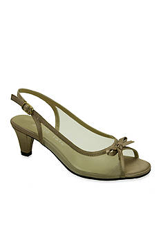 David Tate Prom Peep-Toe Slingback Pump - Available in Extended Sizes - Online Only