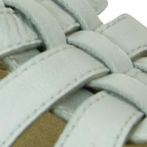 Flat Sandals for Women: White David Tate Squeeze Sandal - Available in Extended Sizes - Online Only