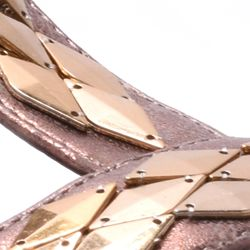 Wedge Sandals for Women: Bronze New York Transit Verified Action Wedge Shoe