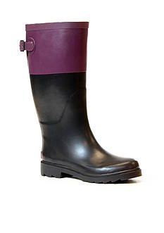 CHOOKA Color Block Back Gusset Rainboot