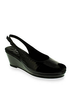 Walking Cradles Natasha Slingback Wedge Alligator - Available in Extended Sizes - Online Only