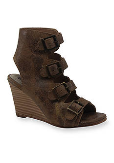 Diba True In Vited Buckle Wedge Sandal