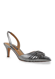 Kay Unger New York Fairleetoo Mid Heel Halter Sling Shoe