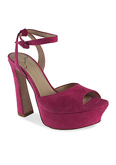 Kay Unger New York Suede Open Toe Sandal