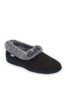 Acorn Chinchilla Collar Slipper - Available in Extended Sizes - Online Only